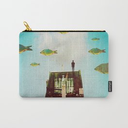 Rooftop     surreal, surrealism, digitalart, digitalcollage, collage, graphicdesign, photoshop, phot Carry-All Pouch