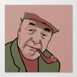 Pablo Neruda Canvas Print
