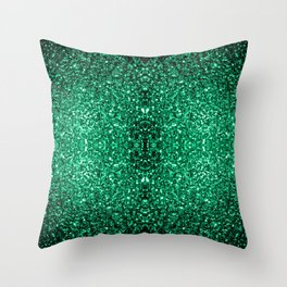 Beautiful Emerald Green glitter sparkles Throw Pillow