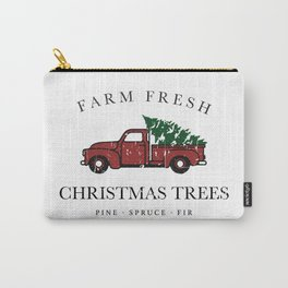 Christmas Tree Farm Vintage Truck Carry-All Pouch