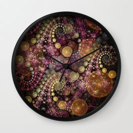 Magical dream, fractal abstract Wall Clock