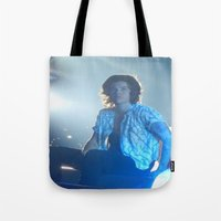 harry styles Tote Bags featuring Harry Styles by Halle
