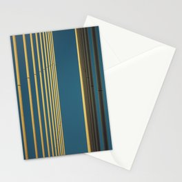 Yellow lines into the sky Stationery Cards