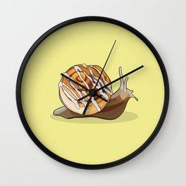 Cinnamon Bun Snail Wall Clock