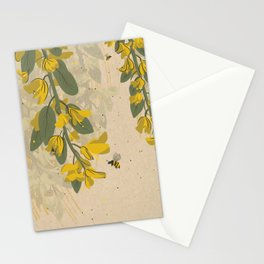 Yellow Bees Stationery Cards