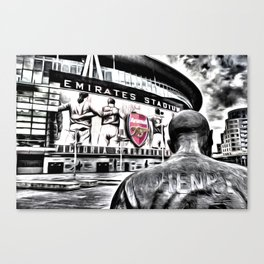 Thierry Henry Statue Emirates Stadium Art Canvas Print