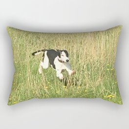 Happiness is running wild and free, and not letting your feet touch the ground! Rectangular Pillow