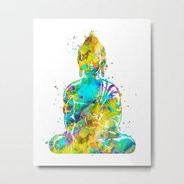 Watercolor Buddha Metal Print