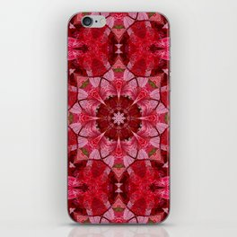 Red autumn leaves kaleidoscope - Cranberrybush Viburnum iPhone Skin