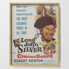 Classic Movie Poster - Long John Silver Serving Tray