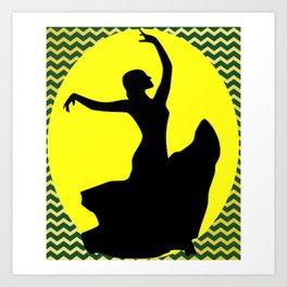Flamenco Dancer ZigZags Art Print