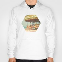 carousel Hoodies featuring Seaside Carousel by Cassia Beck