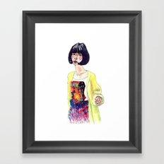 Fashion Illustration . Oriental Girl Framed Art Print