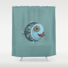 pisces (green) Shower Curtain