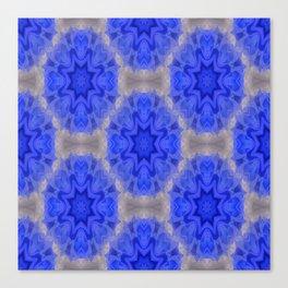 Blue lace love..... Canvas Print