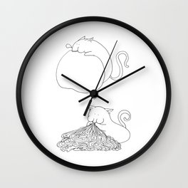Strange Creature Eating Wall Clock