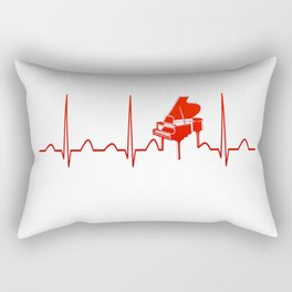 PIANO HEARTBEAT Rectangular Pillow
