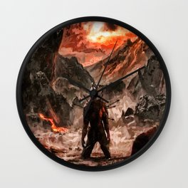 Defiant To The End Wall Clock