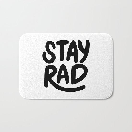 Stay Rad B&W Bath Mat