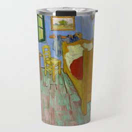 The Bedroom (1889) by Vincent Van Gogh. Travel Mug