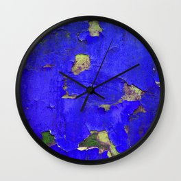 Blue chipped paint Wall Clock