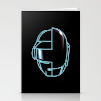 daft punk Stationery Cards featuring Daft Punk by Jason Michael