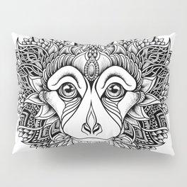 MONKEY head. psychedelic / zentangle style Pillow Sham
