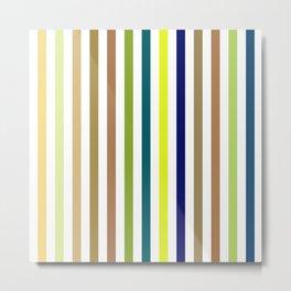 Simple Colorful Vertical Strips - Rainbow Color Lines Metal Print