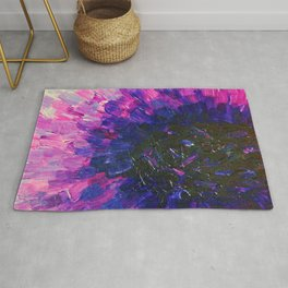 VACANCY - LIMITLESS Bold Eggplant Plum Purple Abstract Acrylic Painting Floral Macro Colorful Void Rug