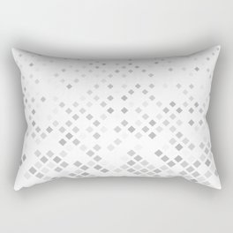 Grey Square Pattern Background Rectangular Pillow