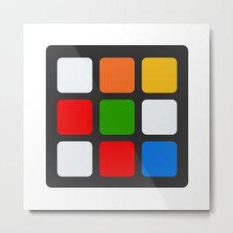 flat rubiks cube Metal Print