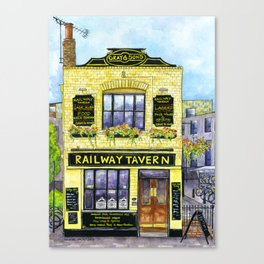 The Railway Tavern, Chelmsford Canvas Print