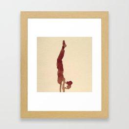 hand stand Framed Art Print