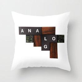 Analog Geometry Throw Pillow