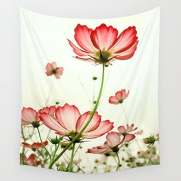 TENDER RED BLOSSOMS Wall Tapestry