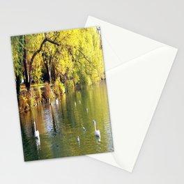 Autumn Mood at Lake Stationery Cards