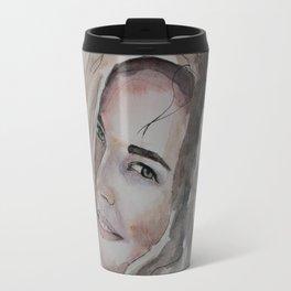 watercolor portrait Travel Mug
