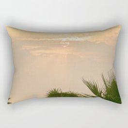 cloudy sky in the oasis Rectangular Pillow