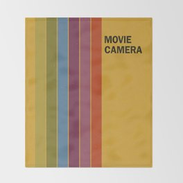 Retro Movie Camera Color Palette Throw Blanket