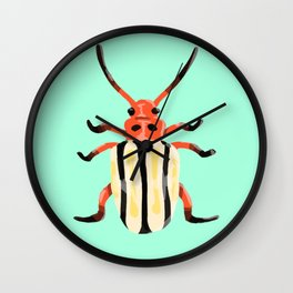 Pop Beetles Wall Clock