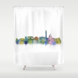 Washington City Skyline Shower Curtain