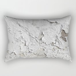 White Chipped Paint Rectangular Pillow