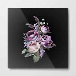 Bouquet d'été - Black background Metal Print