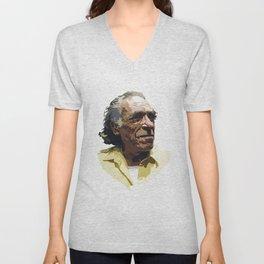 Charles Bukowski Unisex V-Neck
