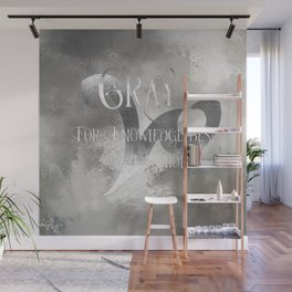 GRAY for knowledge best untold. Shadowhunter Children's Rhyme. Wall Mural