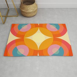 Gwyddno - Colorful Abstract Blossom Art Rug
