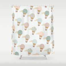 baloon collage pattern  Shower Curtain