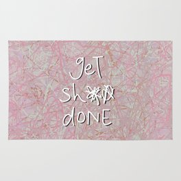 get sh** done - hot pink Rug