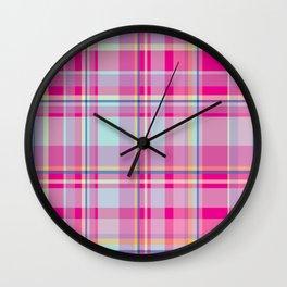 Plaid_Series 1 Wall Clock