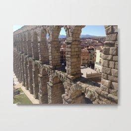 Segovia Aqueduct Metal Print